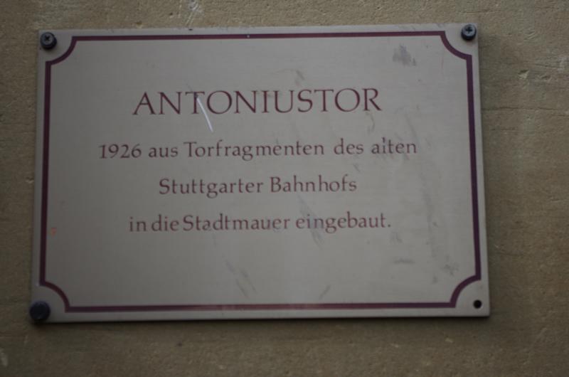 Hinweistafel am Antoniustor in Weil der Stadt
