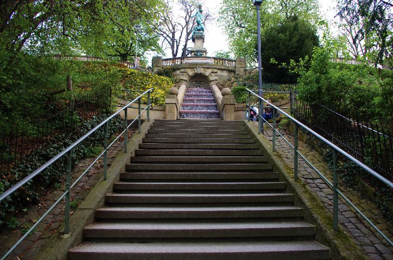 Eugensstaffel Galateabrunnen