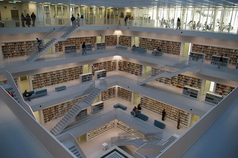 Moderne Stäffele - Stadtbibliothek Stuttgart