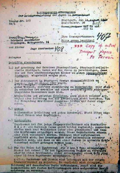 Anordnung Auerbacher Deportation