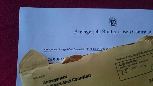 Post vom Amtsgericht