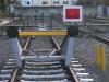 Deutsche Bahn Prellbock vor der Gedenkstätte