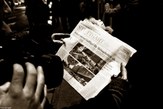 Südflügelblockade Vorabbericht der Stuttgarter Zeitung